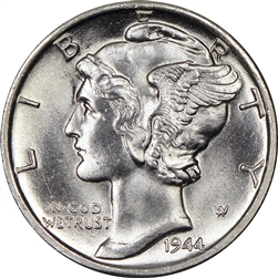 1944 S Mercury Dime Winged Liberty Head Dimes For Sale