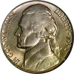 1952 Nickel 1952 S Jefferson Nickel U S Nickel For Sale