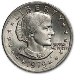 1979 Dollar Coin Susan B Anthony Dollar One Dollar Coin