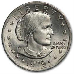 1979 Dollar Coin Susan B Anthony Dollar One Dollar Coin