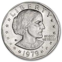 1979 S Dollar Coin Susan B Anthony Dollar 1979 Silver