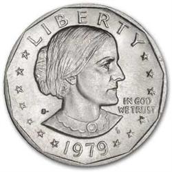 1979 S Dollar Coin Susan B Anthony Dollar 1979 Silver