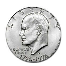1776-1976 Bicentennial Eisenhower Dollars