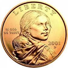 2001 D Sacagawea Dollar Golden Dollar Sacagawea Coin